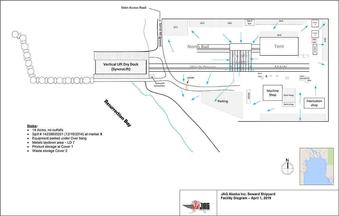 Seward Shipyard Map
